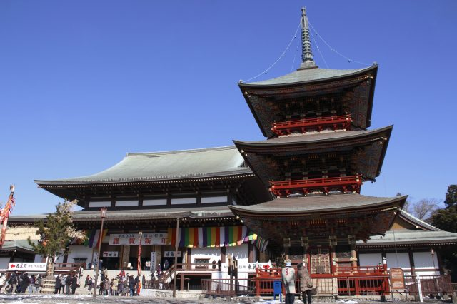 The Great Main Hall and the Three-story Pagoda