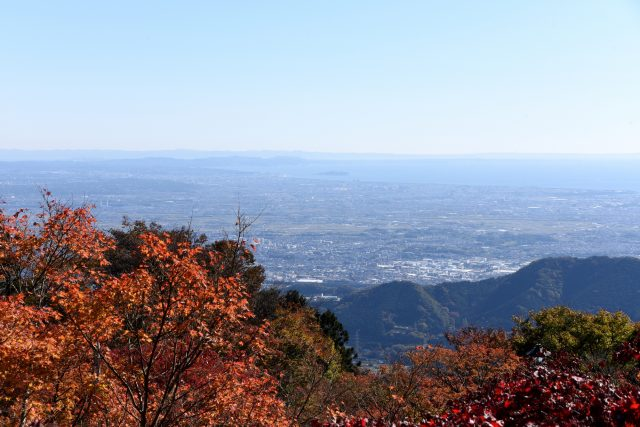 从大山阿夫利神社的「下社」望去的风景