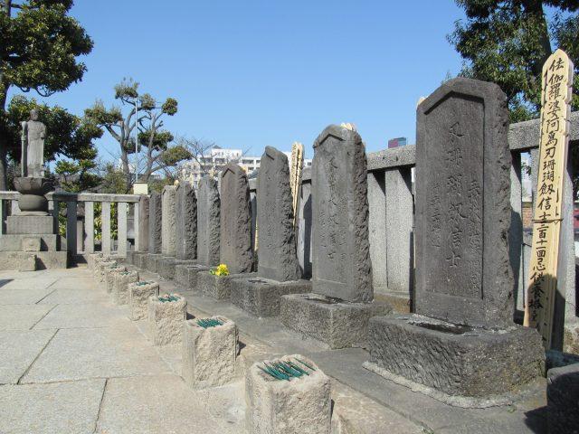 赤穗義士們的墓地