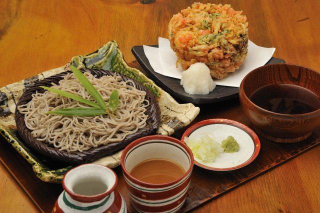 Edo kaki-age soba tray