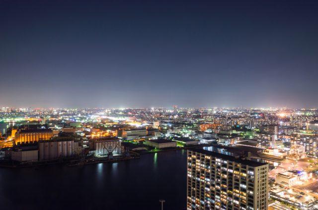 從千葉港口塔眺望的夜景