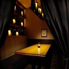 Curtained private room