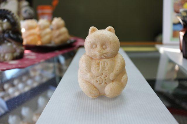 有酥脆外皮的狸最中 一個120日圓