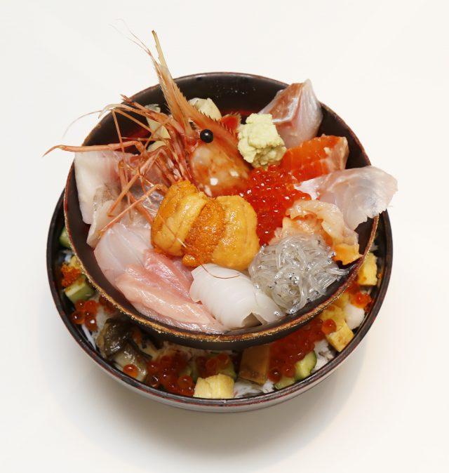 The Tsukiji Jogai-Don, 3,240 yen. Toppings vary by day