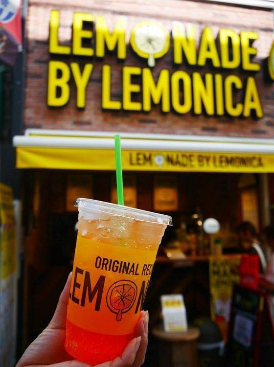 Lemonade outside of the shop
