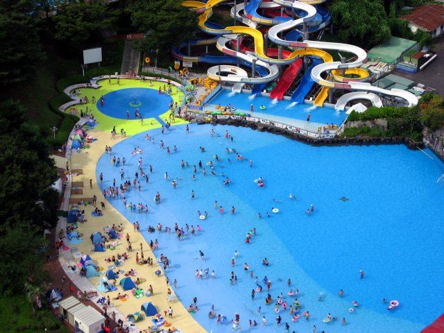 夏天的游泳池