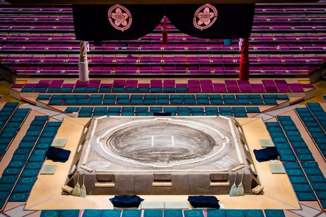 The Dohyo (Sumo Arena) in Ryokoku Kokugikan