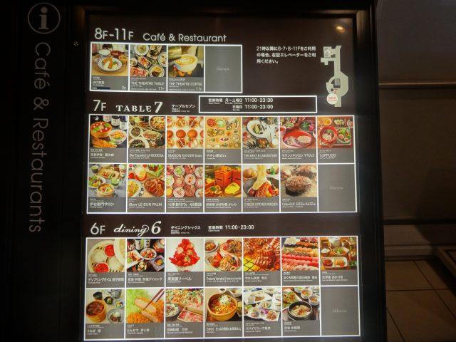6層-11層 餐廳區 導覽板
