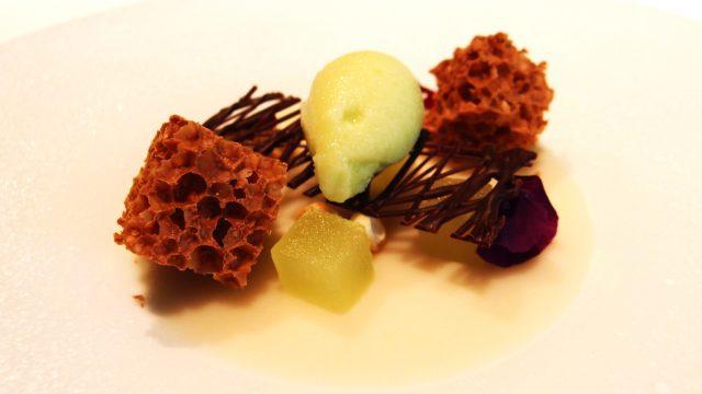 小杏仁饼果冻・空气巧克力・青苹果冰糕