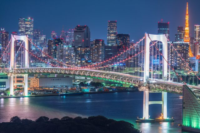 Illuminated Rainbow Bridge