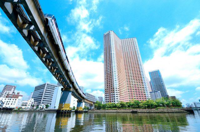 在東京都的中心位置罕見的運河之上行駛!