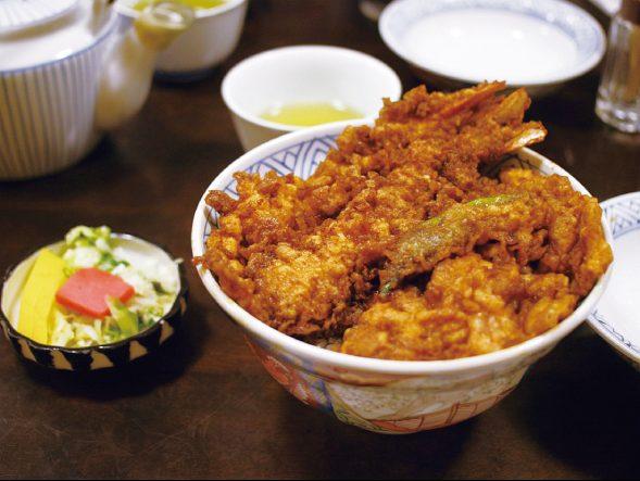 淺草名物之一炸蝦天婦羅丼飯