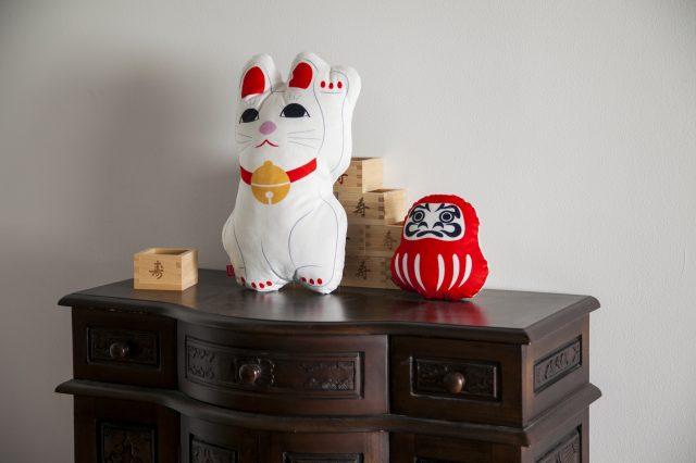 達摩和招福貓
