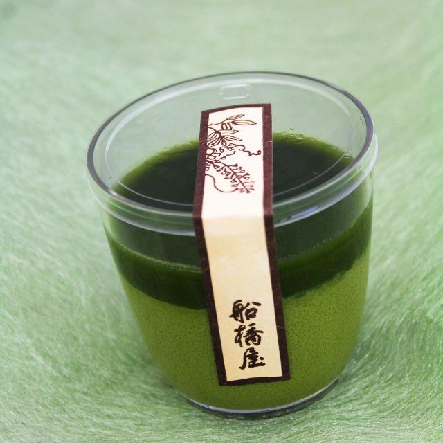 Matcha kuzumochi pudding