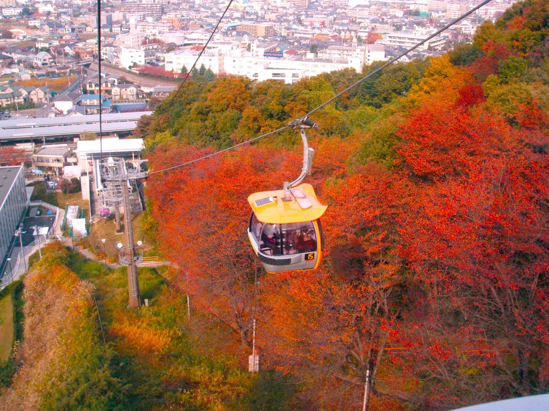 The view from an Autumn Gondola