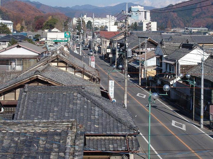 Historical buildings line Honmachi Street in the center of Kiryu