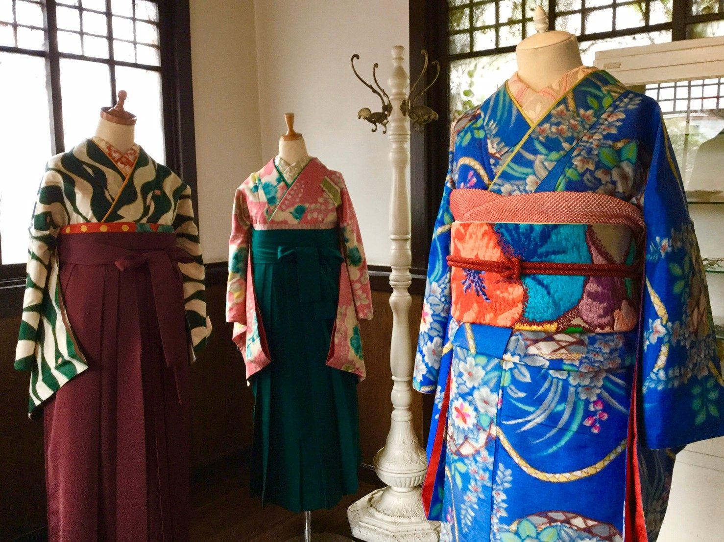 參考店內琳瑯滿目的和服搭配找到適合自己的一款吧