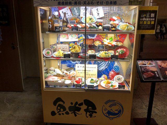 陳列在櫥窗內的餐點模型