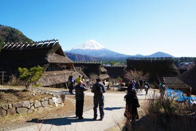 Mt. Fuji and nostalgic old-time scenery