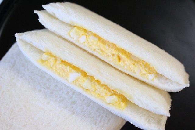 Cross-section of egg sandwich