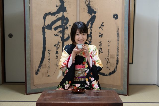 The master's room is a purely Japanese-style space. Please elegantly enjoy your tea while wearing the kimono.