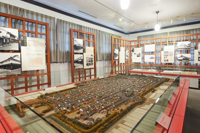 You can learn what the town used to be like with a model of Imaicho from 1877.