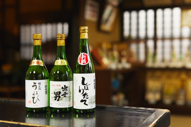 """At the Kawai Brewery that is the sole sake brewery in Imaicho, you can sample their """"Shusse Otoko"""" sake that has a refreshing taste."""