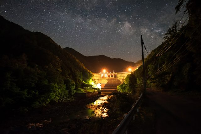 The beauty of the starry sky is one of the attractions of the area.
