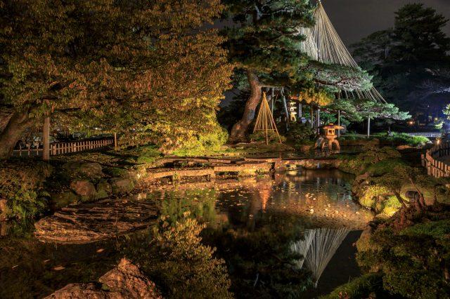 Kenrokuen summer light-up