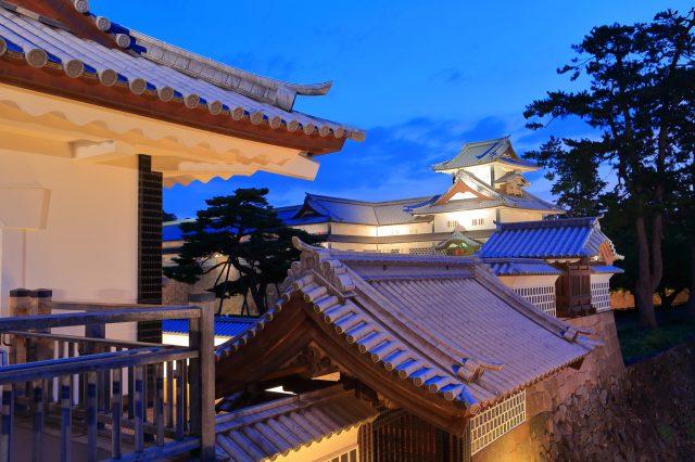Kanazawa Castle summer light-up