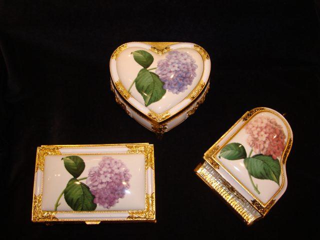 以繡球花為模型的鎌倉限定音樂盒