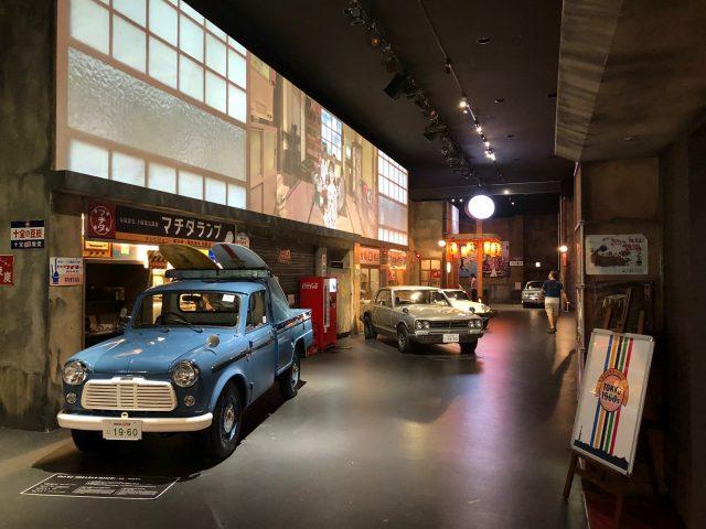 1樓 展示世界歷史名車收藏品的「歷史車庫」